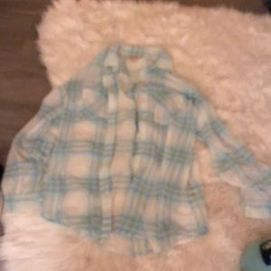 Decree Tops - light blue flannel